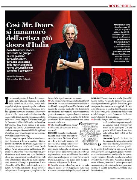 John Densmore for Rolling Stone Italia